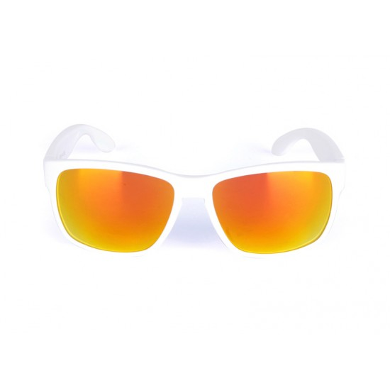 Ballop Horizon white frame and Orange Lens