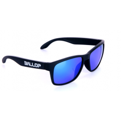 Ballop Blue Mirror Black Frame Sunglasses